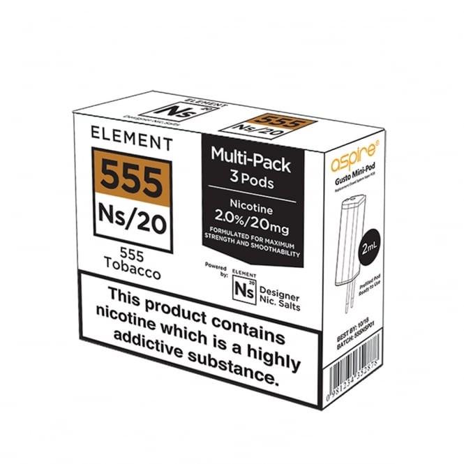 Element E-Liquids NS20 Pods - 555 Tobacco