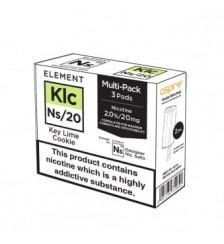 Element E-Liquids NS20 Pods - Key Lime Cookie`