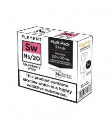 Element E-Liquids NS20 Pods - Strawberry Whip